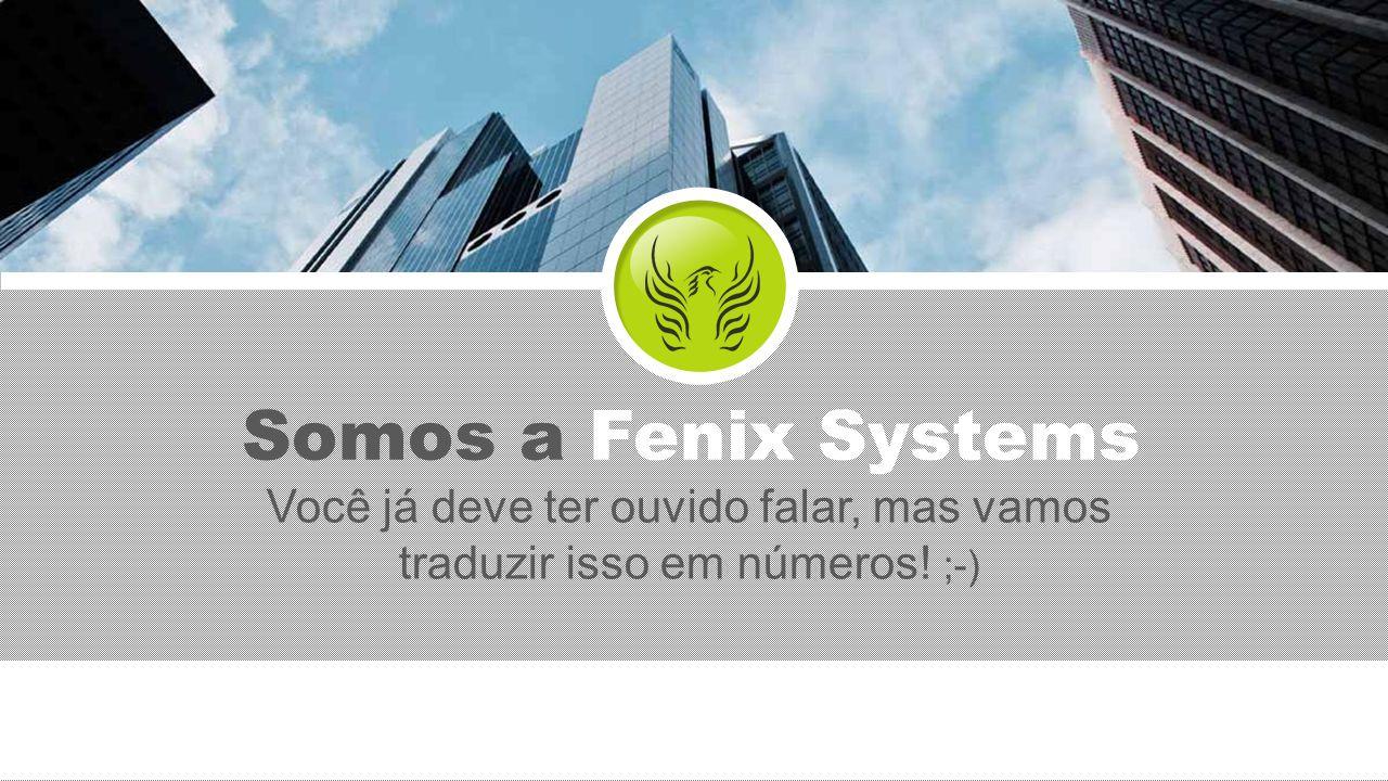 Somos a Fenix Systems Você já deve ter ouvido falar, mas vamos traduzir isso em números! ;-)