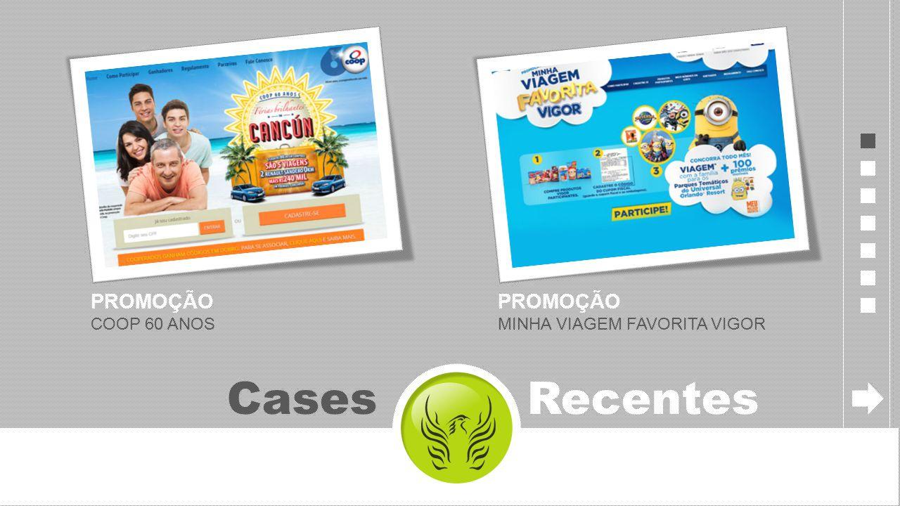 PROMOÇÃO COOP 60 ANOS Cases Recentes PROMOÇÃO MINHA VIAGEM FAVORITA VIGOR