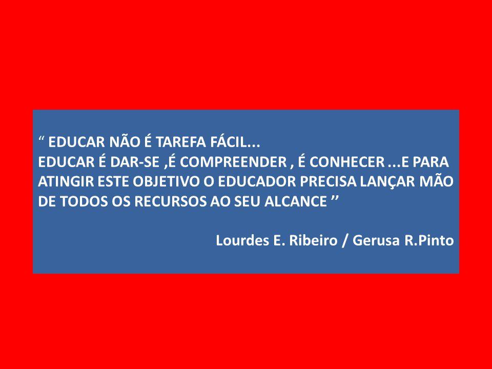 EDUCAR NÃO É TAREFA FÁCIL...
