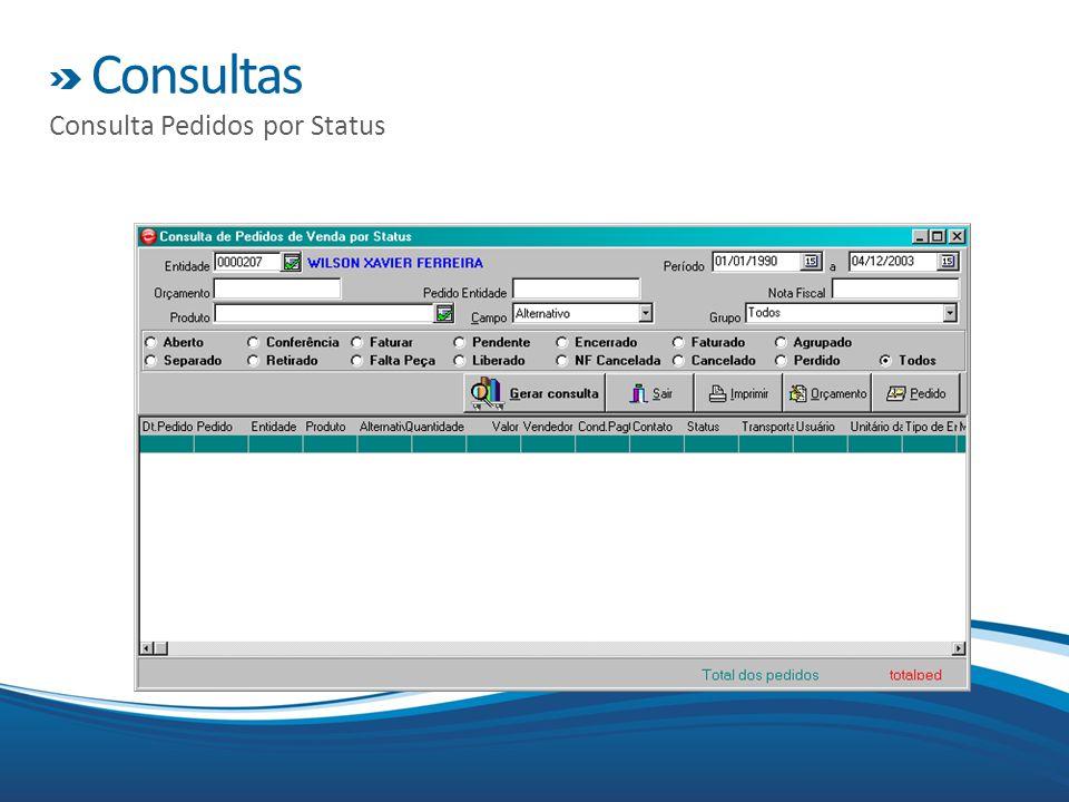 Consultas Consulta Pedidos por Status