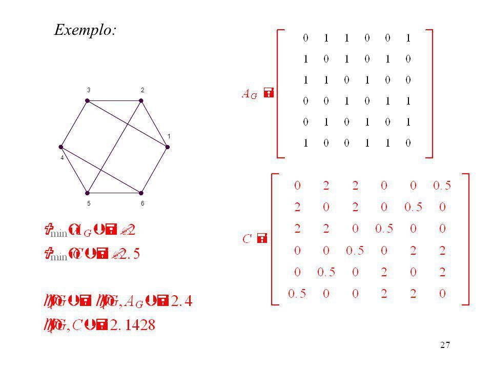 27 Exemplo: 1 23 4 56