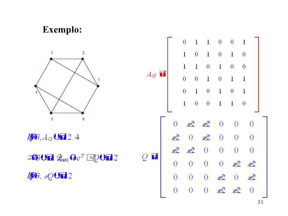 31 Exemplo: 1 23 4 56
