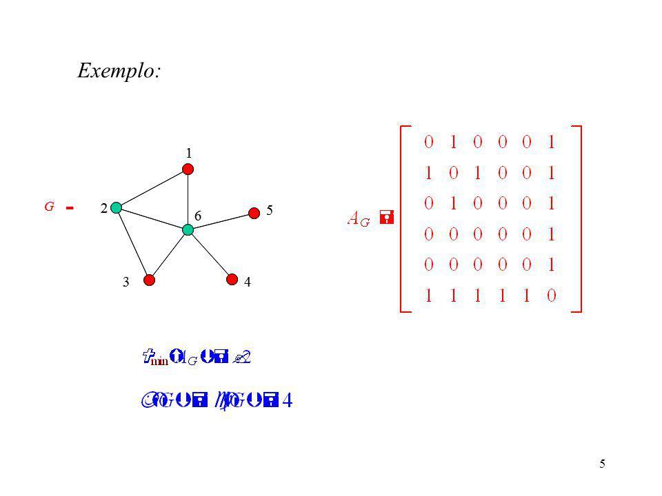 5 1 2 6 34 5 1 2 6 34 5 G  G  Exemplo: