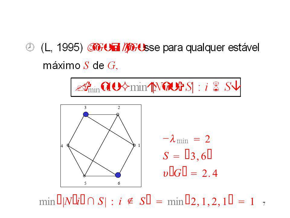 7 1 23 4 56 1 23 4 56   min  2 S   3,6    G   2.4  | N  i   S |: i  S    2,1,2,1   1