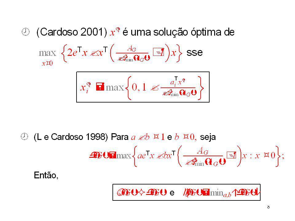 19 Barbosa e Cardoso, 2004, On regular-stable graphs, Ars- Combinatoria, 70, 149-159 Cardoso, 2003, On graphs with stability number equal to the optimal value of a convex quadratic programming, Matemática Contemporânea, 25, 9-24.