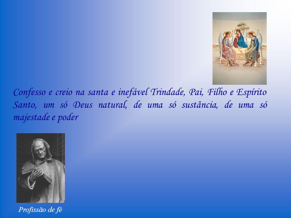 Profissão de fé Creio na ressurreição da carne, na vida eterna. Amém