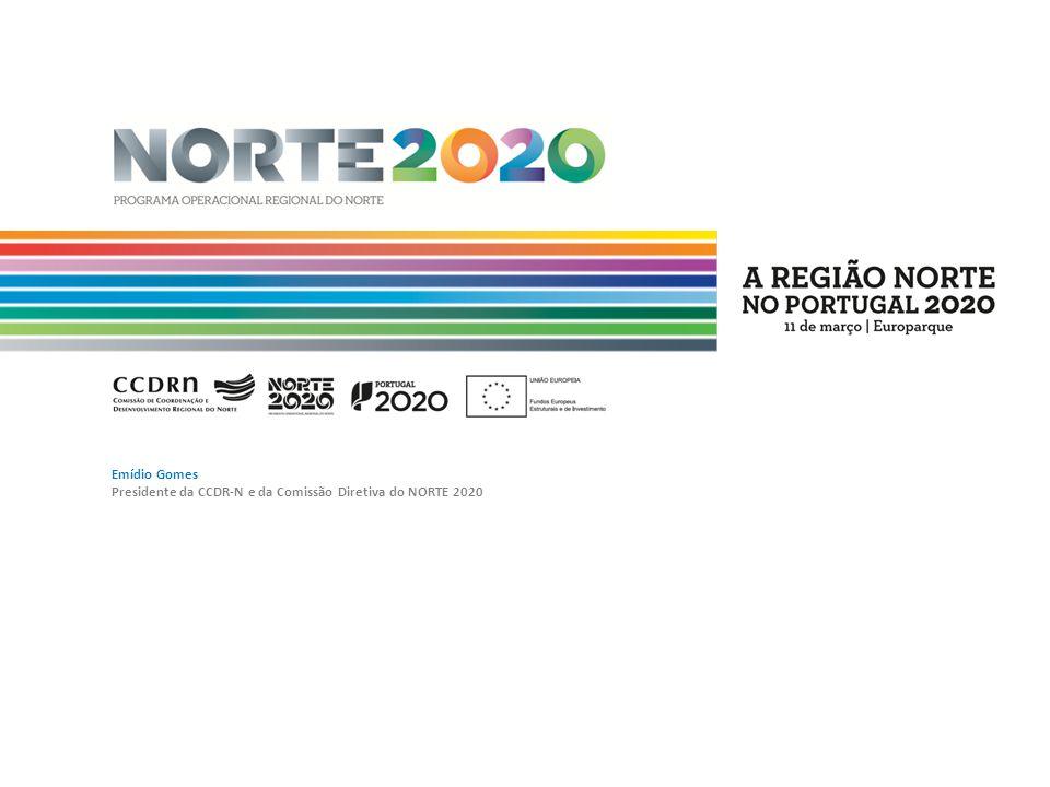 Estrutura da apresentação 1.Estratégia de Desenvolvimento Regional 2.Objetivos Temáticos da UE 2014-2020 3.Estruturação do PO Regional do Norte em Eixos Prioritários 4.Dotações financeiras do PO Regional do Norte 5.Prioridades de investimento e indicadores, por eixo prioritário 6.Abordagem Integrada ao Desenvolvimento Territorial