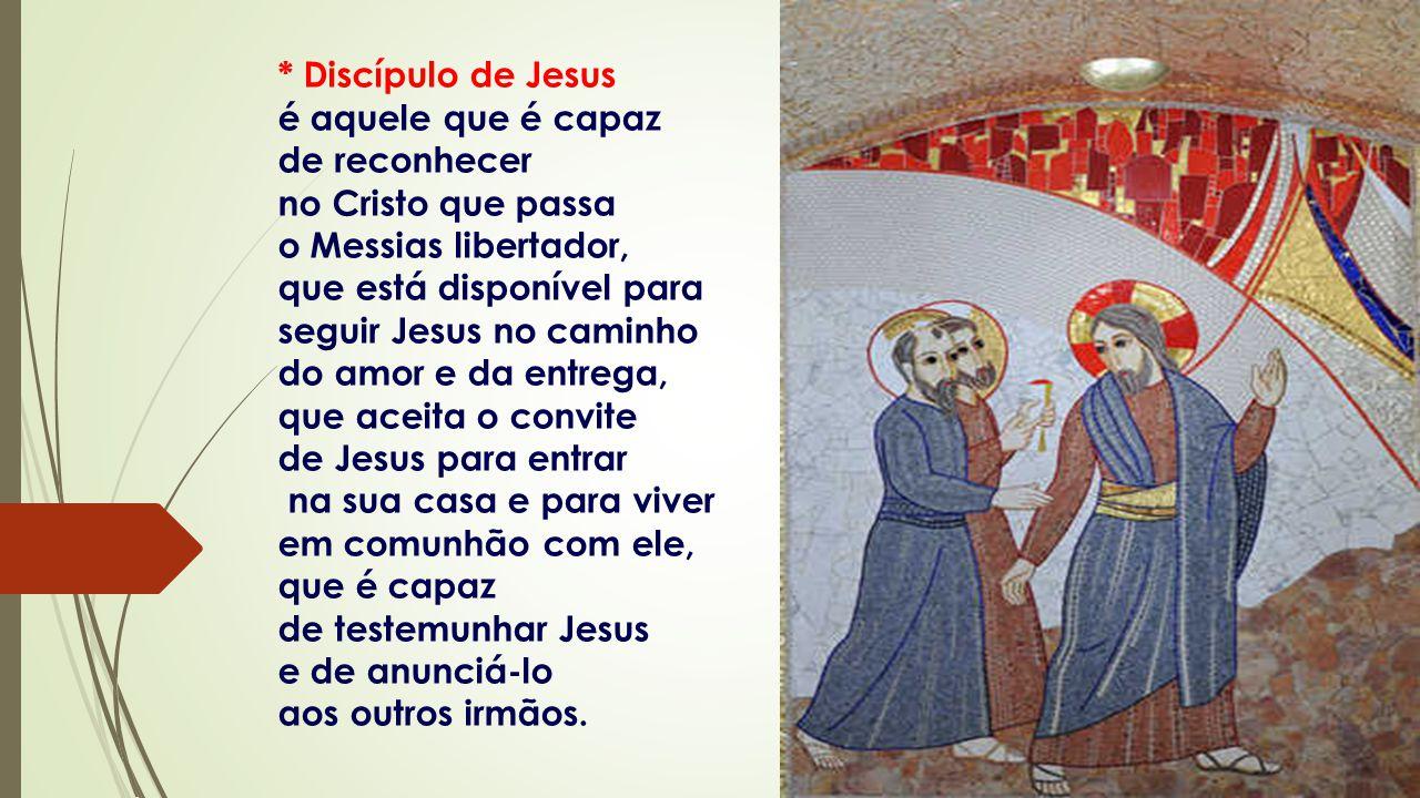 - Mestre, onde moras? A resposta dos discípulos é movida pelo desejo de comunhão.
