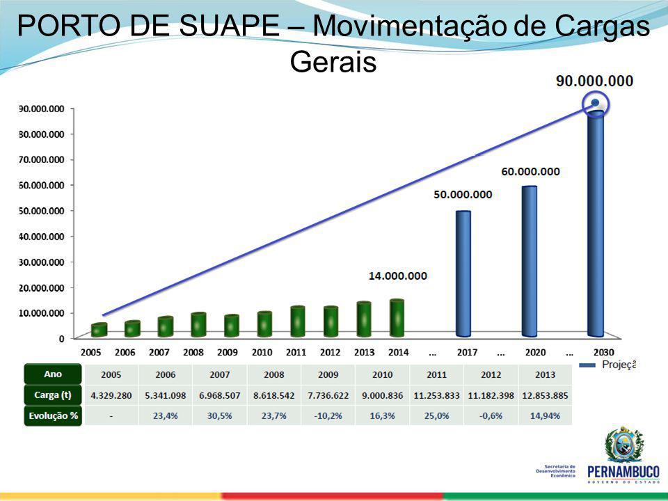 SECRETERIA DE DESENVOLVIMENTO ECONÔMICO 11 PORTO DE SUAPE – Movimentação de Cargas Gerais