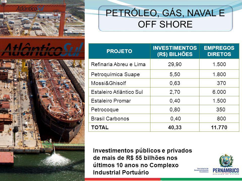 SECRETERIA DE DESENVOLVIMENTO ECONÔMICO 15 PROJETO INVESTIMENTOS (R$) BILHÕES EMPREGOS DIRETOS Refinaria Abreu e Lima29,901.500 Petroquímica Suape5,50
