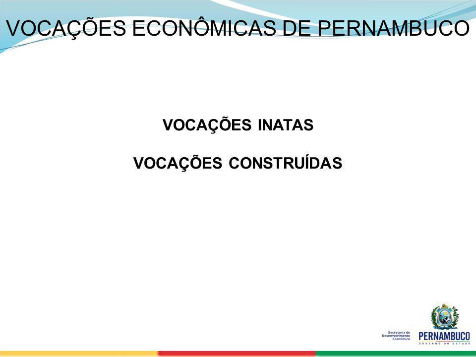 SECRETERIA DE DESENVOLVIMENTO ECONÔMICO 2 VOCAÇÕES ECONÔMICAS DE PERNAMBUCO VOCAÇÕES INATAS VOCAÇÕES CONSTRUÍDAS