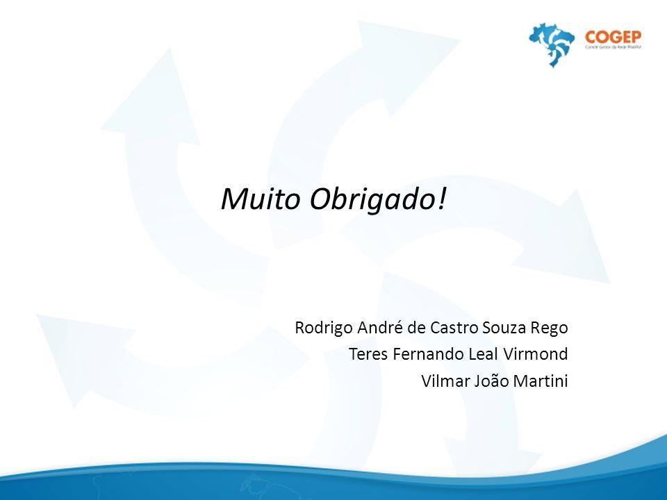 Muito Obrigado! Rodrigo André de Castro Souza Rego Teres Fernando Leal Virmond Vilmar João Martini