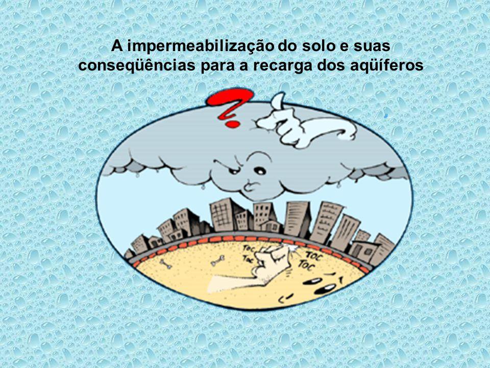 A impermeabilização do solo e suas conseqüências para a recarga dos aqüíferos