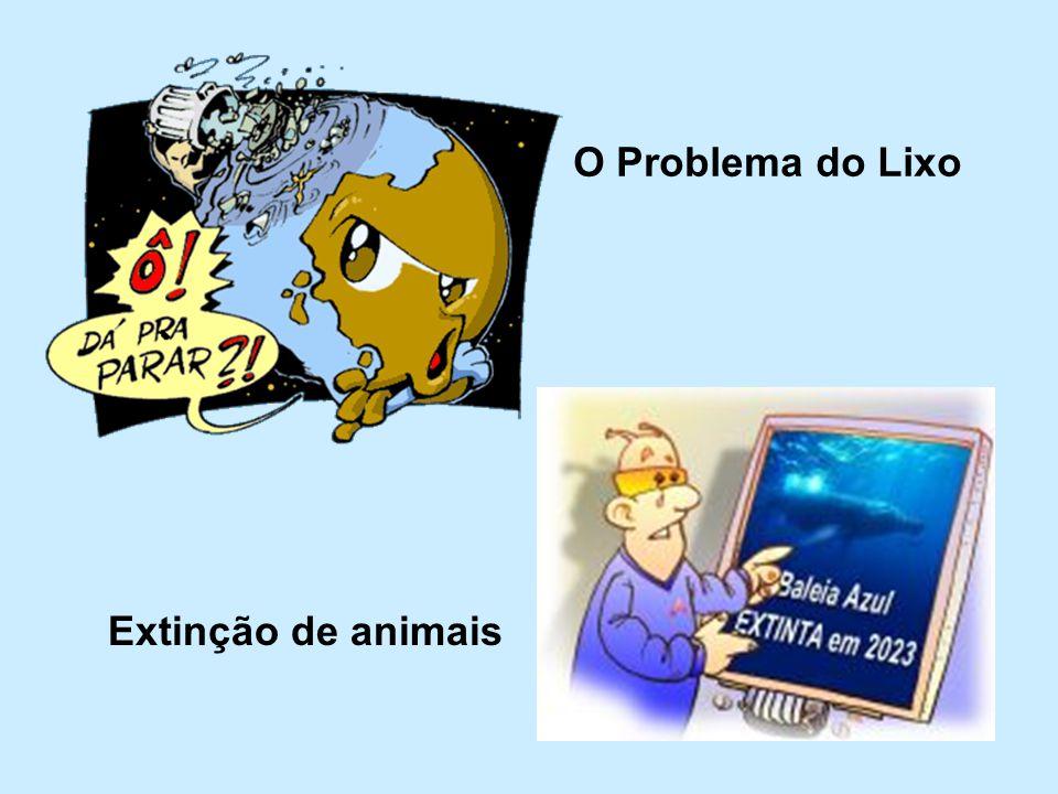 Extinção de animais O Problema do Lixo