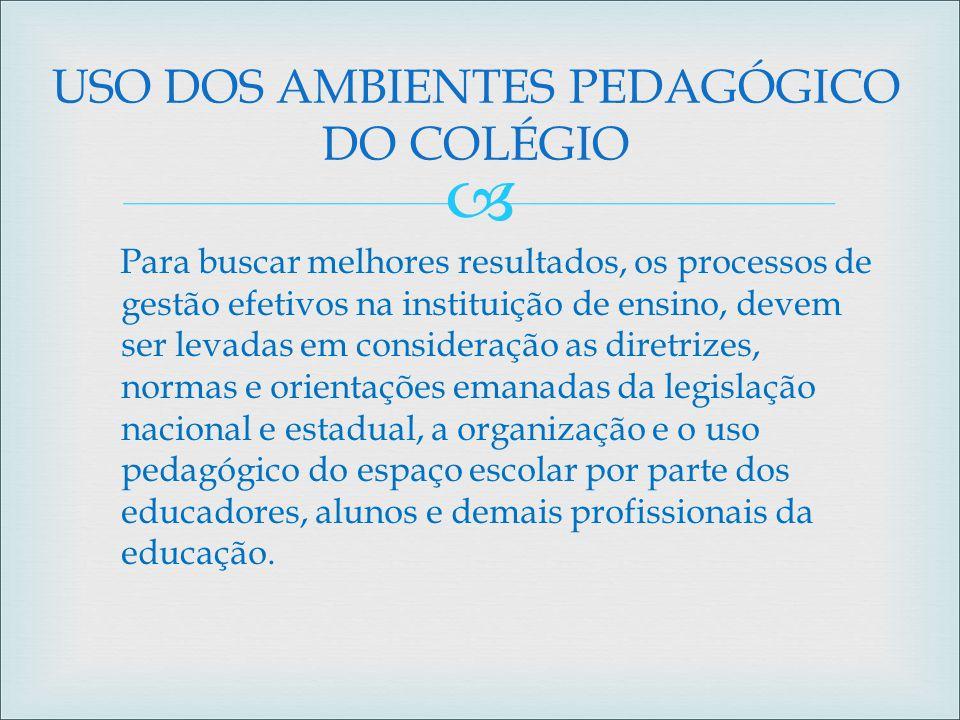  Para buscar melhores resultados, os processos de gestão efetivos na instituição de ensino, devem ser levadas em consideração as diretrizes, normas e