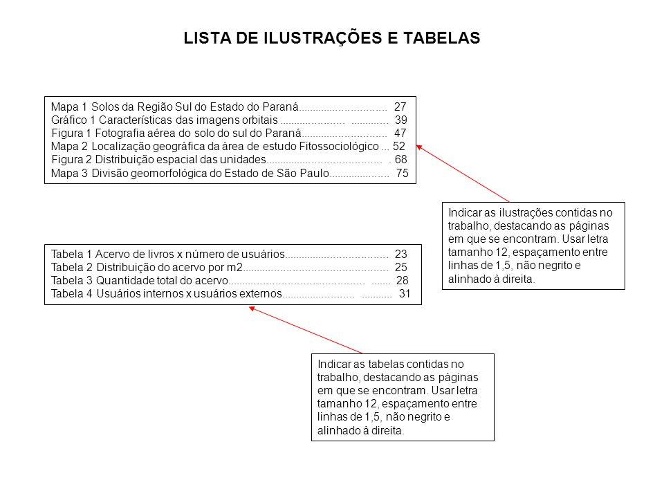 a LISTA DE ILUSTRAÇÕES E TABELAS Mapa 1 Solos da Região Sul do Estado do Paraná.............................. 27 Gráfico 1 Características das imagens