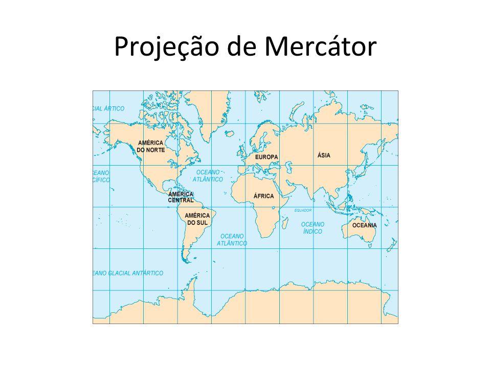 Como já vimos a projeção cilíndrica de Mercátor (1512 – 1594) tornou-se a preferida dos navegantes, desde o século XVI, por ser a única em que as distâncias entre os diversos pontos da Terra são proporcionais a realidade.