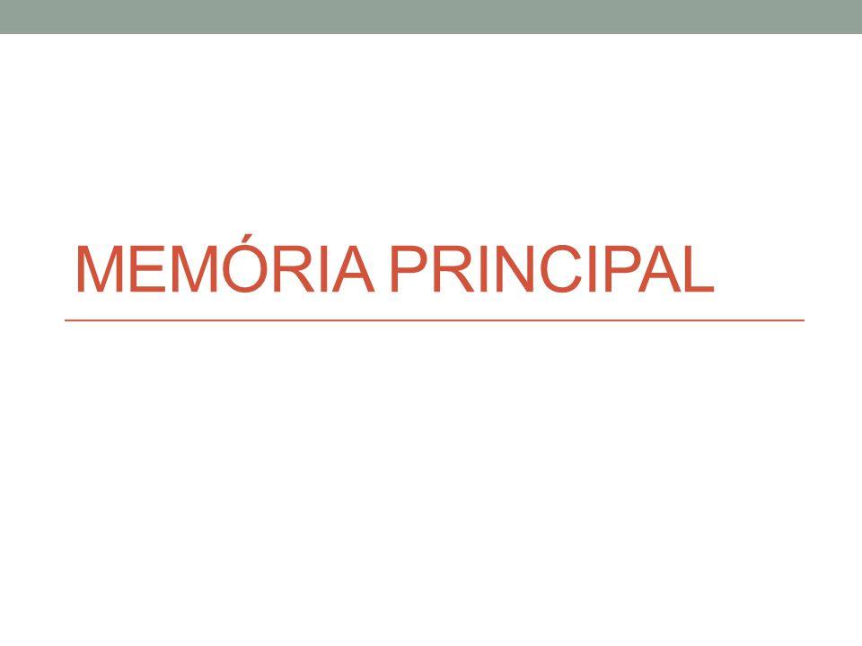 Operações de Leitura e Escrita Elementos Utilizados RDM (Registrador de Dados da Memória) ou MBR (Memory Buffer Register): armazena temporariamente a informação que está sendo transferida da MP para o processador ou vice-versa REM (Registrador de Endereços da Memória) ou MAR (Memory Address Register): armazena temporariamente o endereço de acesso a uma posição de memória, ao se iniciar uma operação de leitura ou de escrita UC (unidade de controle): comanda as operações de leitura ou de escrita