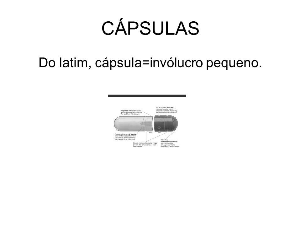 Do latim, cápsula=invólucro pequeno.