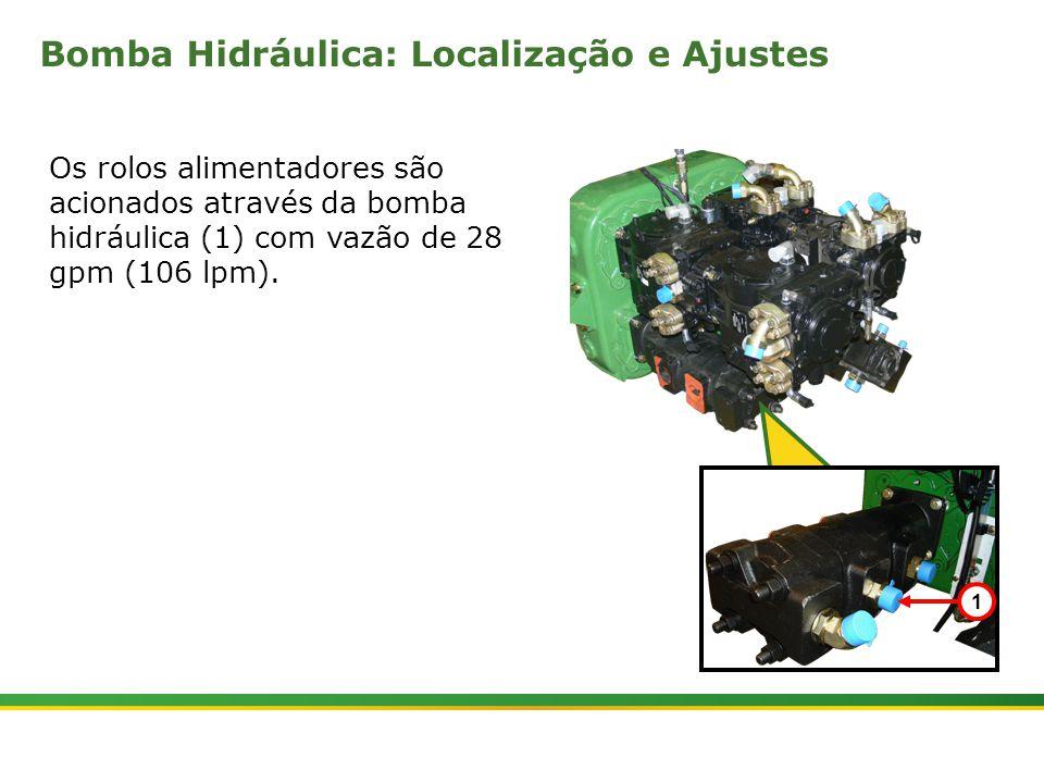 |Colhedora de Cana 3520 & 3522 : Rolos Alimentadores | Janeiro, 20107 A válvula seletora de comprimento do tolete controla a velocidade dos rolos de alimentação.