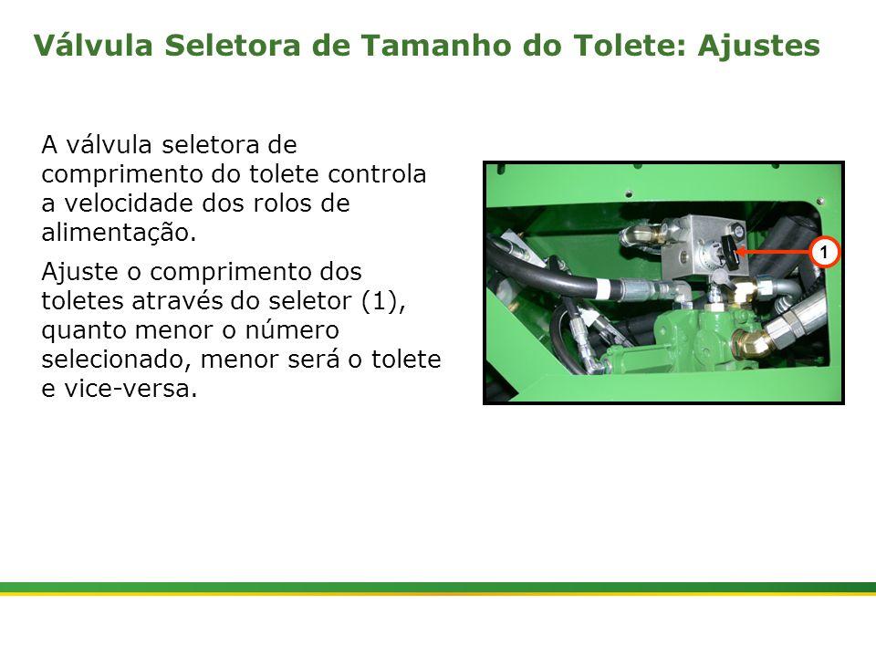  Colhedora de Cana 3520 & 3522 : Rolos Alimentadores   Janeiro, 20107 A válvula seletora de comprimento do tolete controla a velocidade dos rolos de a