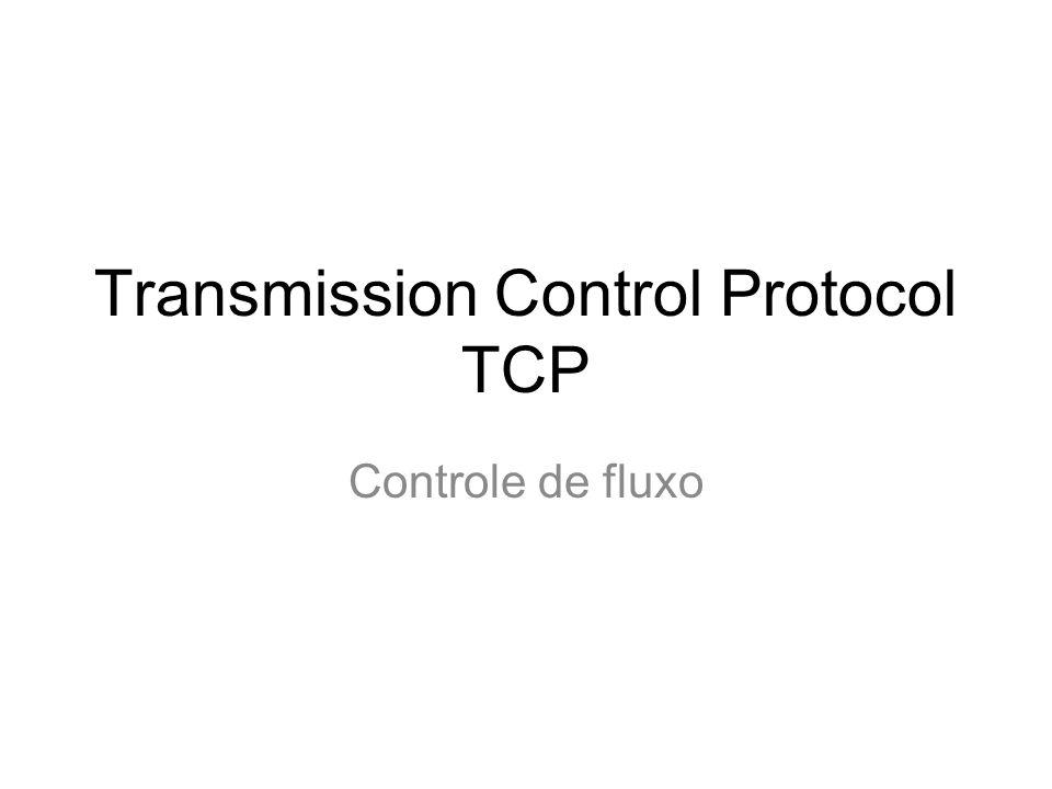 Mecanismos de controle de congestionamento Fim-a-fim –A camada de rede não oferece nenhum suporte explícito à camada de transporte –A perda de segmentos TCP é tomada como uma indicação de congestionamento.