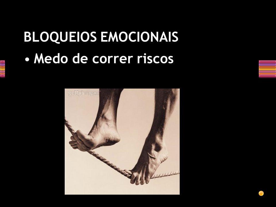 BLOQUEIOS EMOCIONAIS Podem interferir com a liberdade com que manipulamos idéias; Com nossa habilidade em conceituar fluente e flexivelmente; E nos im