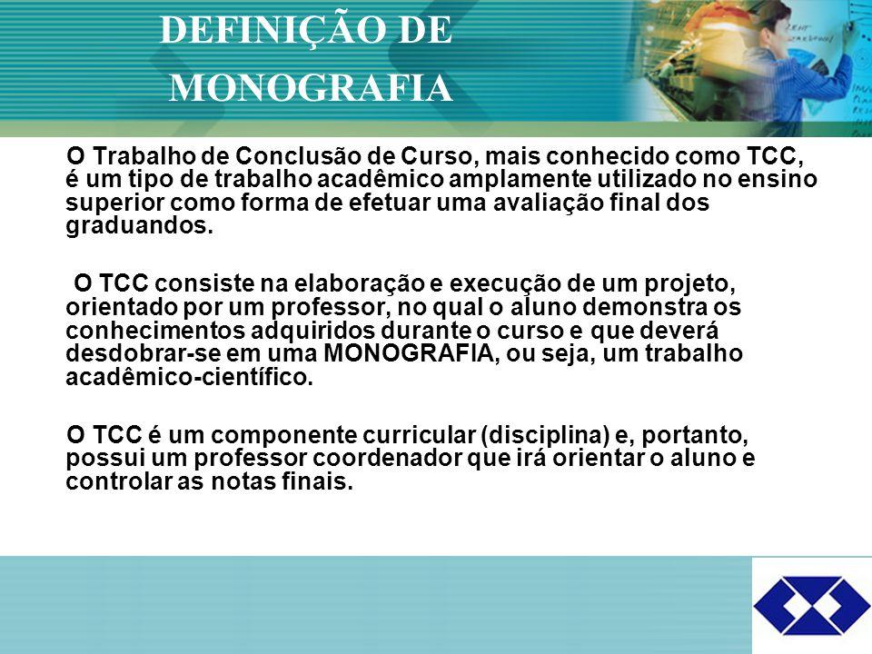 Click to edit Master title style 2 O Trabalho de Conclusão de Curso, mais conhecido como TCC, é um tipo de trabalho acadêmico amplamente utilizado no