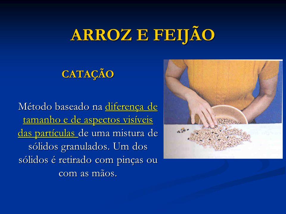 NAFTALINA E SAL SUBLIMAÇÃO FRACIONADA Usada para purificar substâncias que sofrem sublimação facilmente.