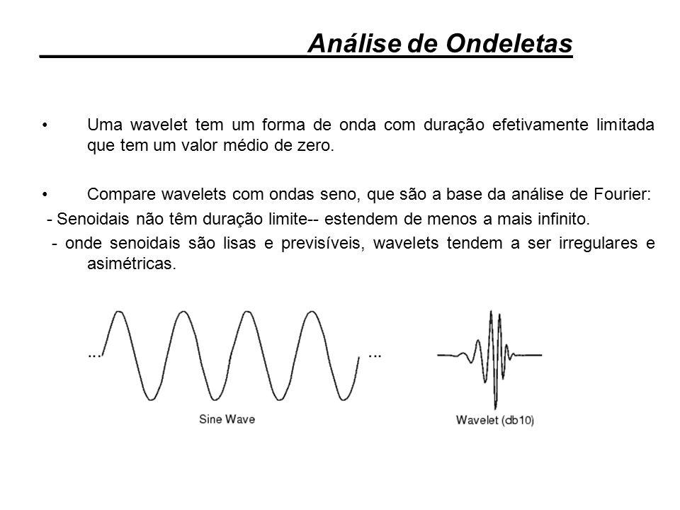 Uma wavelet tem um forma de onda com duração efetivamente limitada que tem um valor médio de zero. Compare wavelets com ondas seno, que são a base da
