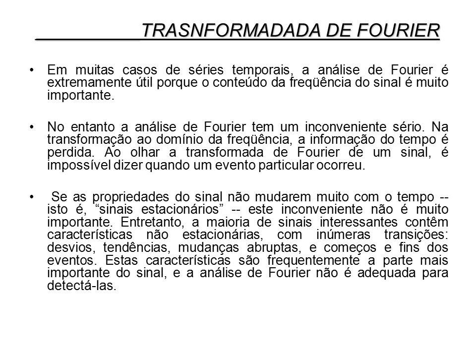 Em muitas casos de séries temporais, a análise de Fourier é extremamente útil porque o conteúdo da freqüência do sinal é muito importante. No entanto