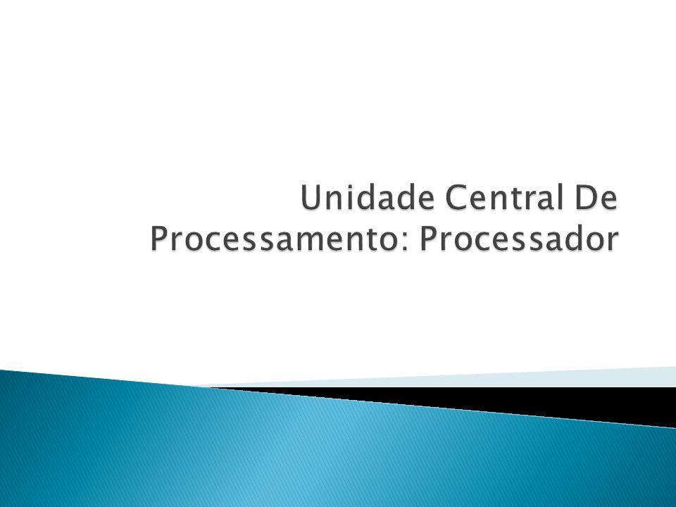 ULA Registradores 0 a R-1 ACC UC Decodificador de instruções RI PC RDM REM Barramento de endereços Barramento de dados Relógio Barramento de controle