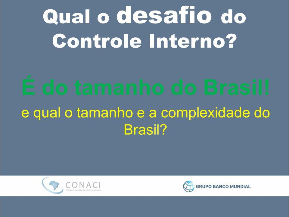 Qual o desafio do Controle Interno.É do tamanho do Brasil.