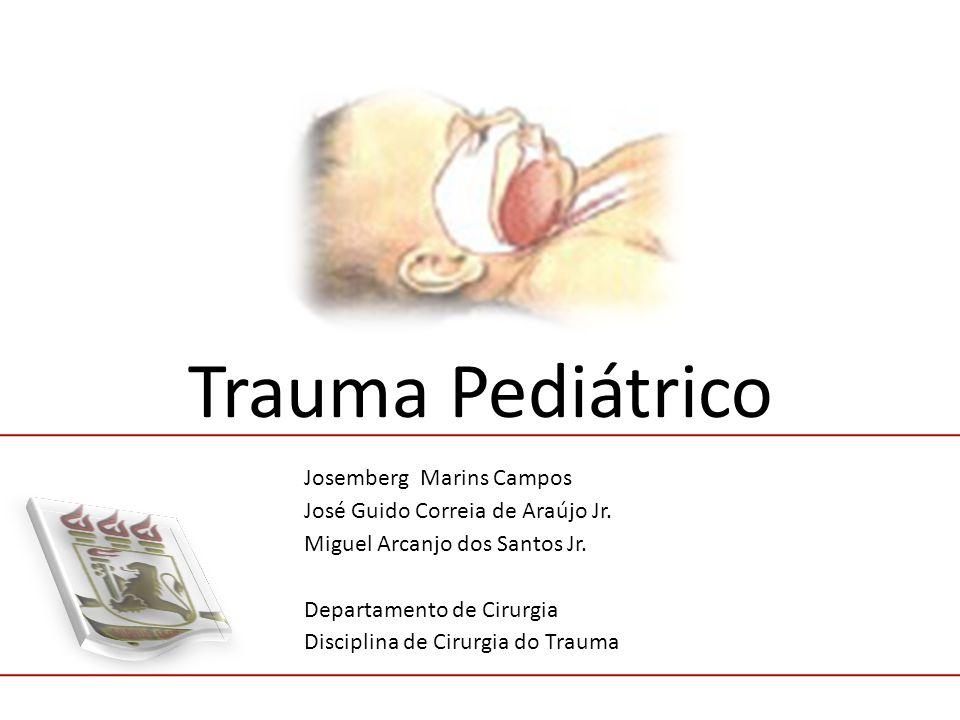 Trauma Pediátrico Josemberg Marins Campos José Guido Correia de Araújo Jr. Miguel Arcanjo dos Santos Jr. Departamento de Cirurgia Disciplina de Cirurg