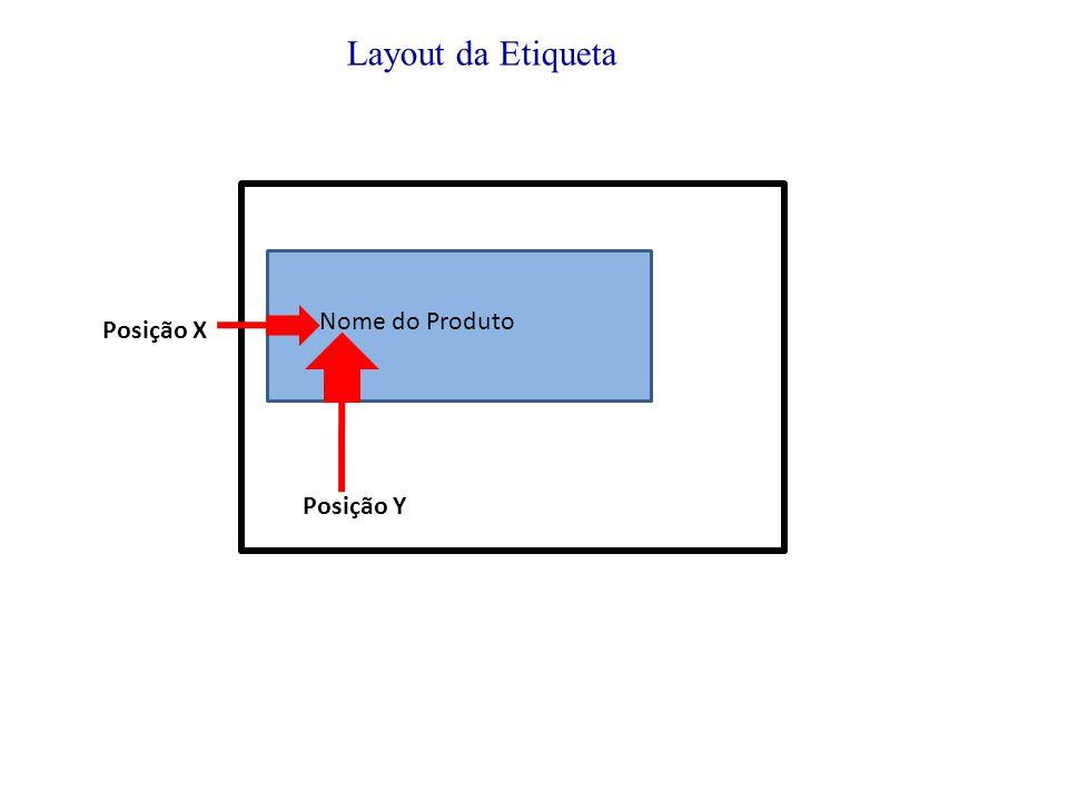 Posição X Nome do Produto Posição Y Layout da Etiqueta