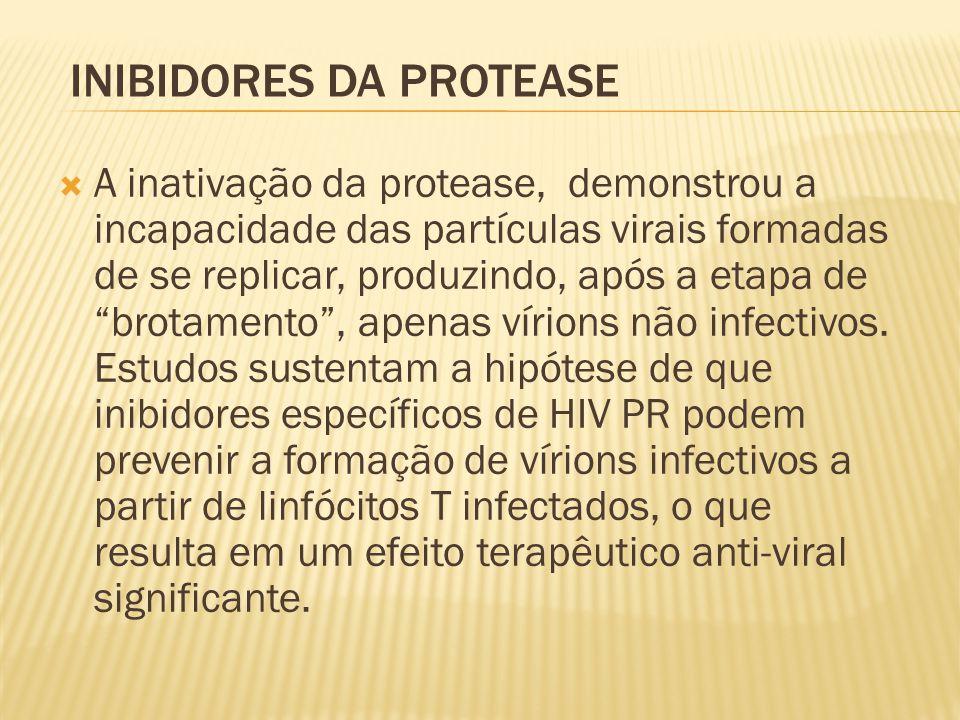  A inativação da protease, demonstrou a incapacidade das partículas virais formadas de se replicar, produzindo, após a etapa de brotamento , apenas vírions não infectivos.
