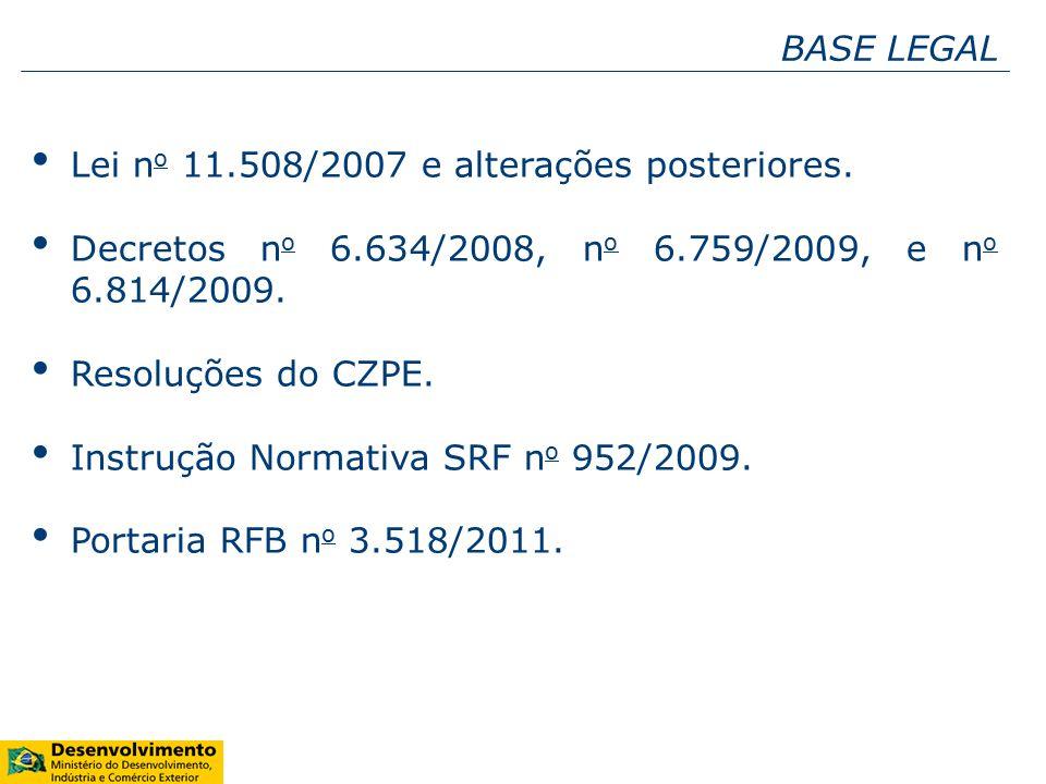 Lei n o 11.508/2007 e alterações posteriores.