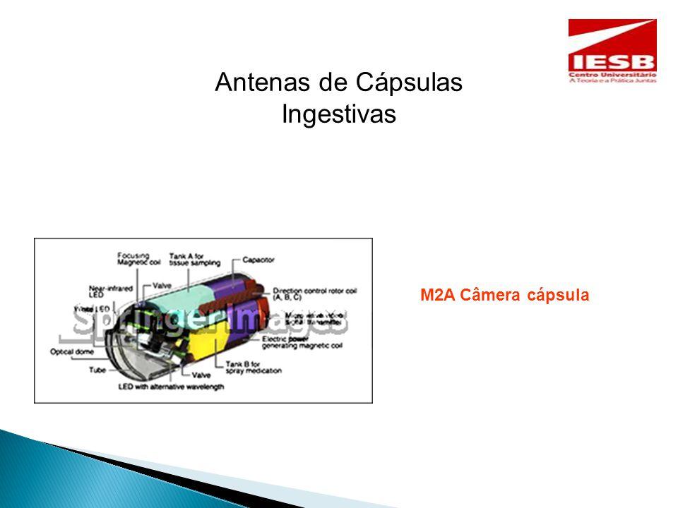 Antenas de Cápsulas Ingestivas M2A Câmera cápsula