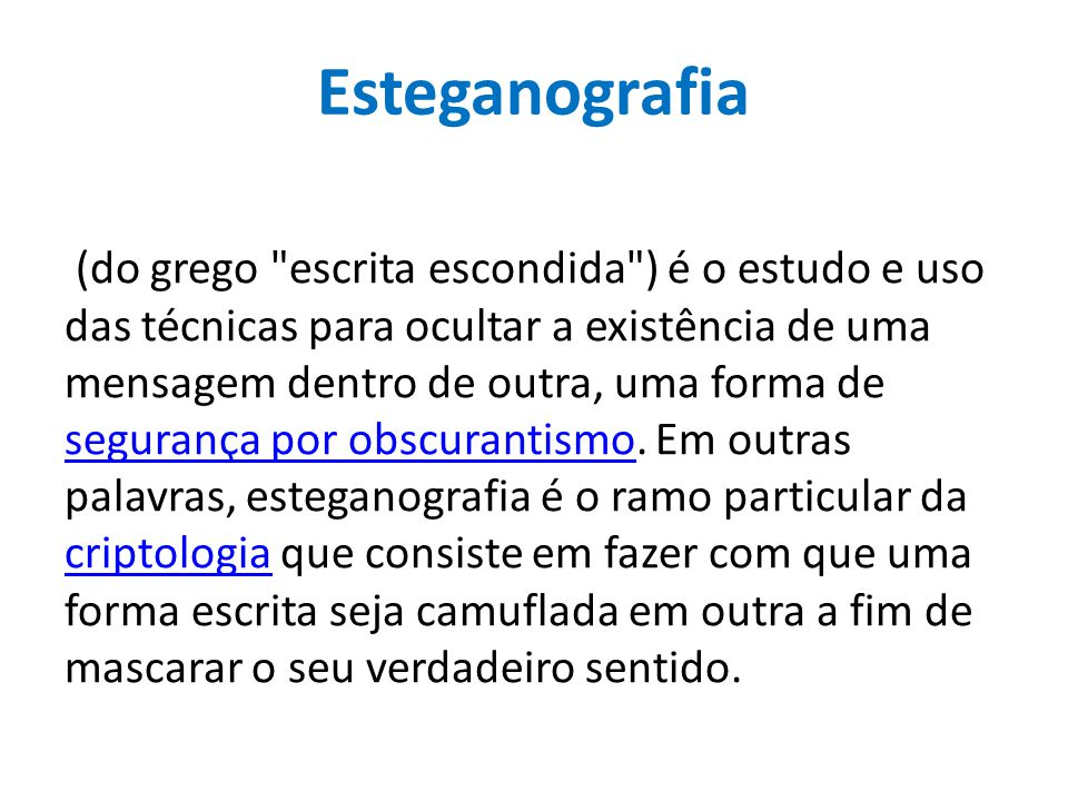 Esteganografia (do grego