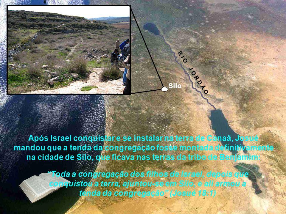 O povo Hebreu então chegaram em Canaã, transportando a tenda. Atravessaram o rio Jordão e com a ajuda do Senhor dominaram a terra e a possuíram confor