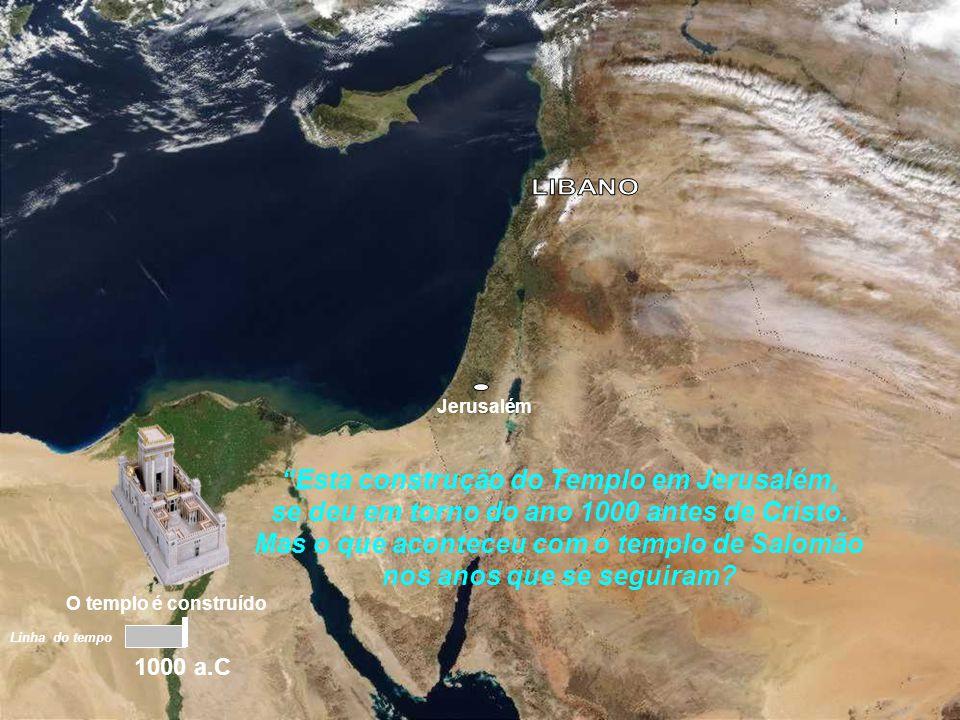 Jerusalém As madeiras eram cortadas e montadas em jangadas e transportadas através do mar até à praia Da praia eram carregadas por terra até Jerusalém