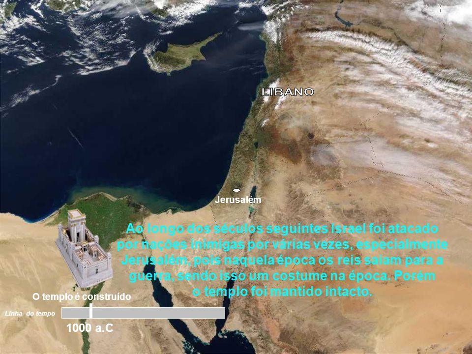 """Jerusalém """"Esta construção do Templo em Jerusalém, se deu em torno do ano 1000 antes de Cristo. Mas o que aconteceu com o templo de Salomão nos anos q"""