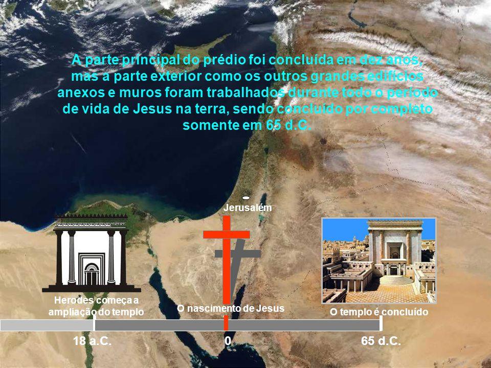 Jerusalém 535 a.C O templo é reconstruídoO templo é profanado 200 a.C Herodes começa a ampliação do templo 18 a.C.