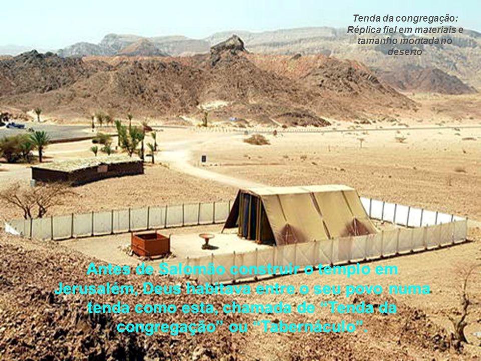 Antes porém de abordarmos sobre o templo que Salomão construiu em Jerusalém, precisamos abordar sobre a Tenda da congregação, pois apesar de ser uma t