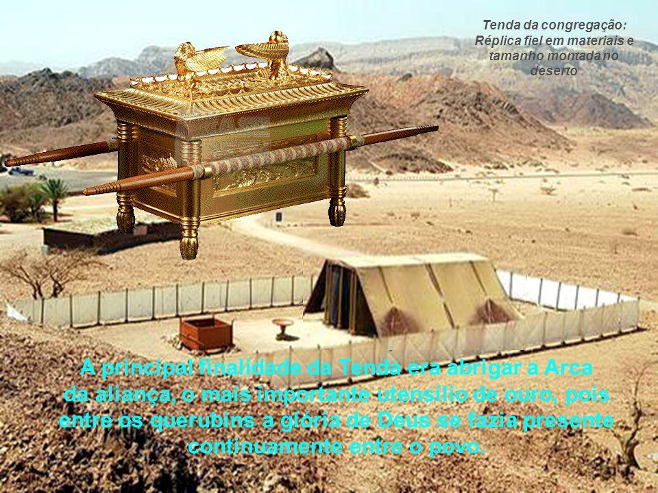 Então o povo Hebreu, liderado por Moisés sob a orientação de Deus, viveram por quarenta anos no deserto, montando, desmontando e transportando a Tenda
