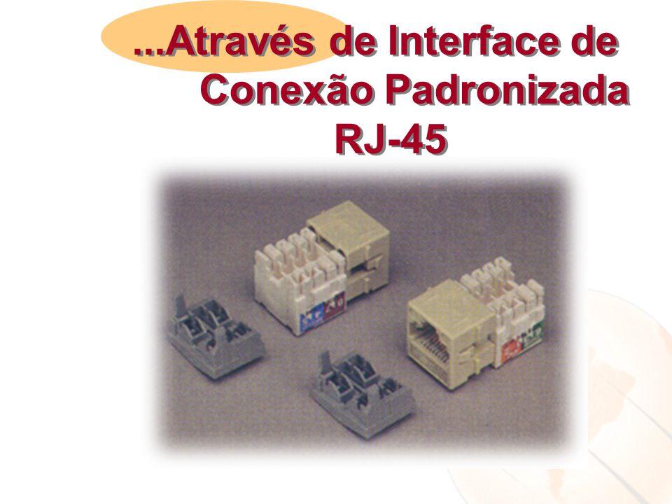 ...Através de Interface de Conexão Padronizada RJ-45...Através de Interface de Conexão Padronizada RJ-45