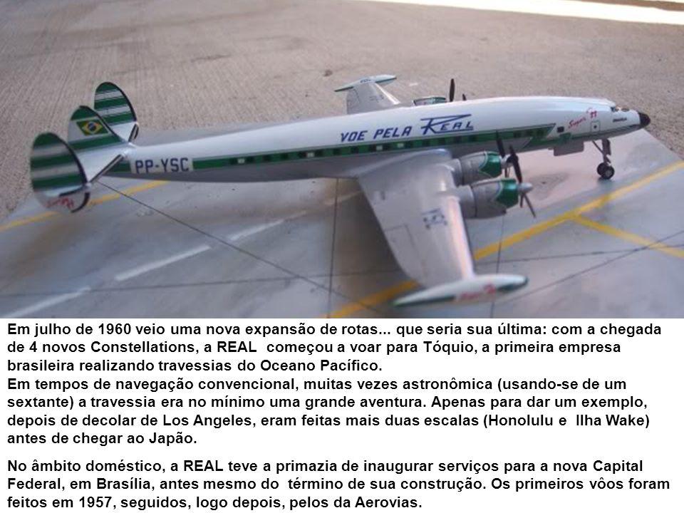 No ano de 1960 o melhor tipo em operação nas rotas domésticas era o Convair 340.