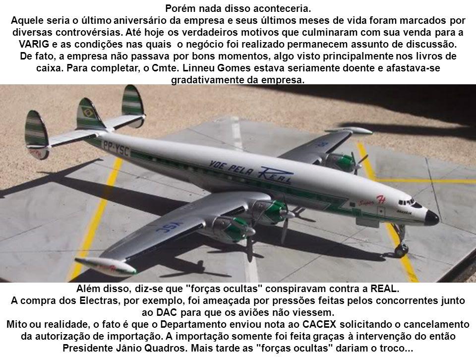 Havia também o recorde brasileiro de horas de vôo, com mais de um milhão de horas voadas até então.