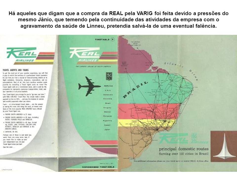 Números da Real: A Real chegou a ter um frota de 117 aviões, dentre eles 86 Douglas DC-3/C-47 e 12 Convair, seis CV-340 e seis CV-440. Tais números a