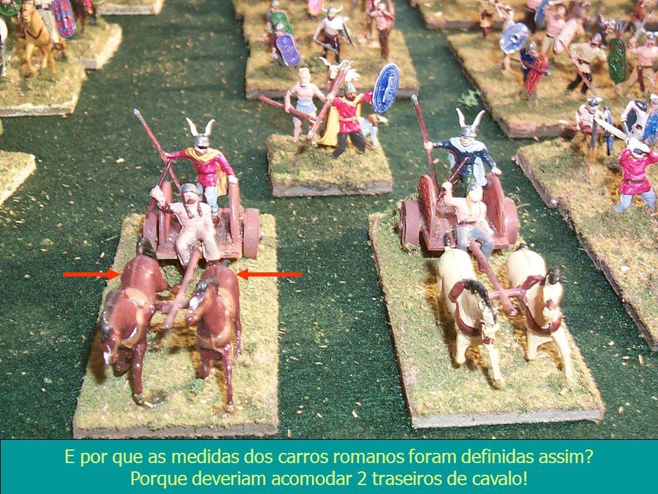 E por que as medidas dos carros romanos foram definidas assim? Porque deveriam acomodar 2 traseiros de cavalo!